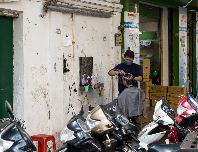 Парикмахер улицы стоковое фото rf