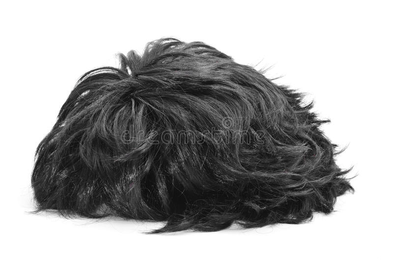 Парик черных волос стоковые фото