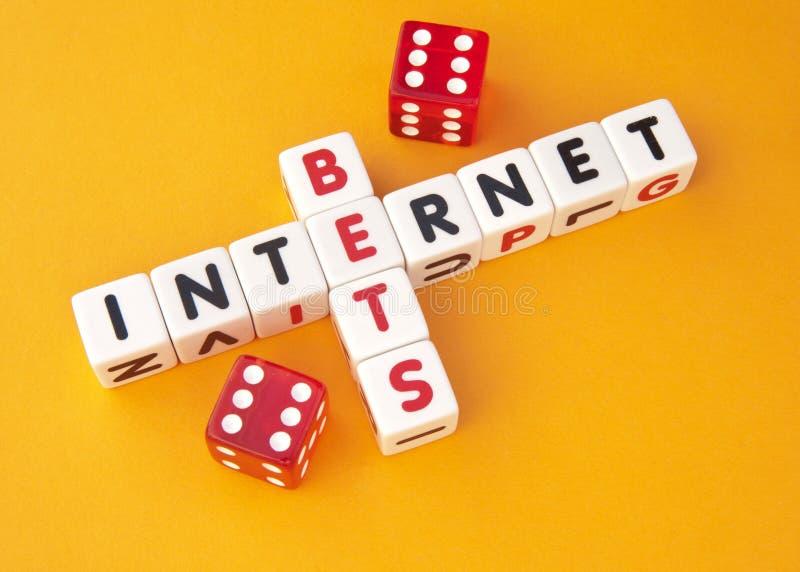 Пари на интернете стоковое фото