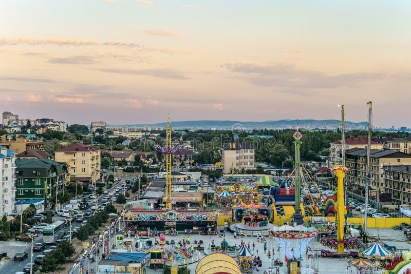Парк  занятности Ñ Vizantia oastal Туристский городок с гостиницами стоковая фотография rf