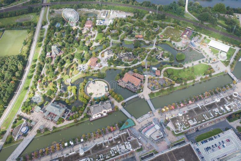 Парк атракционов в области Рура Германии стоковая фотография rf