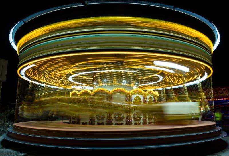 Парк атракционов. Carrousel. стоковое изображение rf