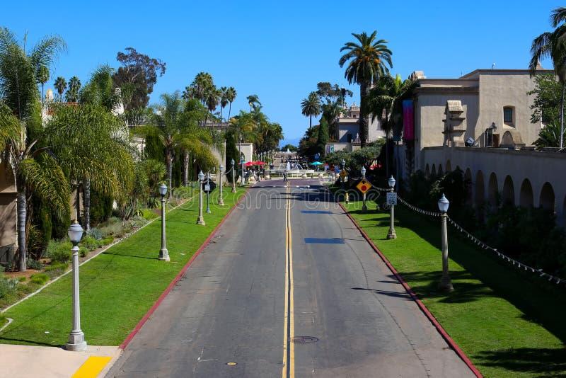 Парк бальбоа в Сан-Диего, Калифорнии стоковые изображения