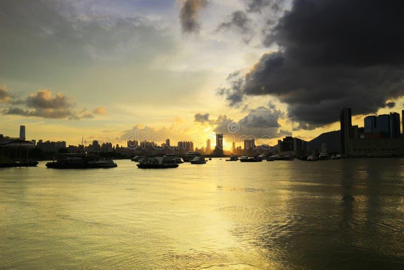 Парк взморья в прогулке Гонконге схвата Kwun стоковое фото
