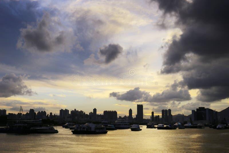 Парк взморья в прогулке Гонконге схвата Kwun стоковые изображения rf