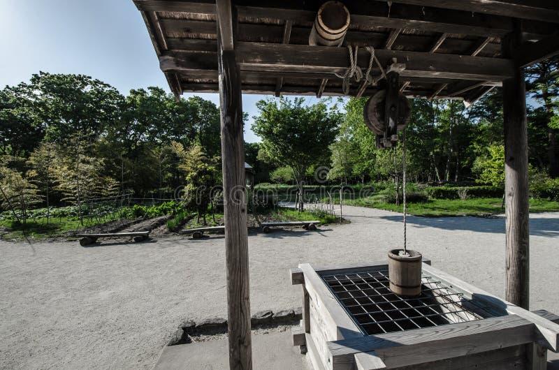 Парк взморья Хитачи - японцы старого стиля деревянные хлынутся стоковая фотография rf