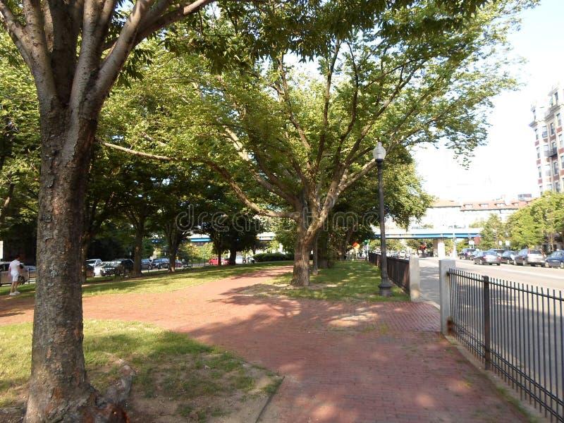 Парк в квадрате Kenmore, Бостон, Массачусетсе, США стоковая фотография