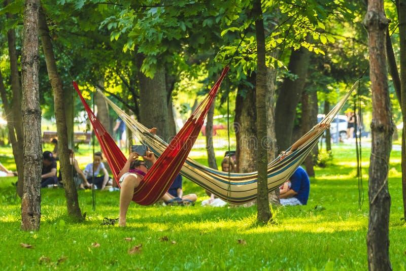 Парк в cluj-Napoca стоковое фото rf