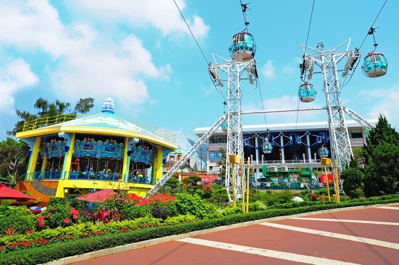 Парк Гонконг океана стоковое изображение rf
