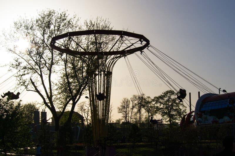 Парк города весны стоковые изображения rf