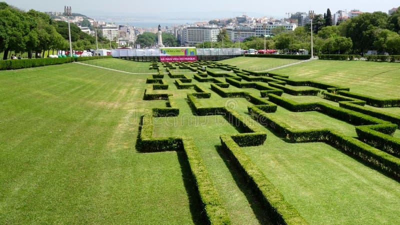 Парк города Лиссабона стоковые фото