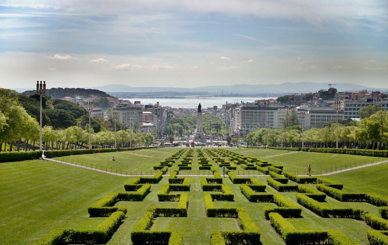 Парк города Лиссабона стоковые изображения