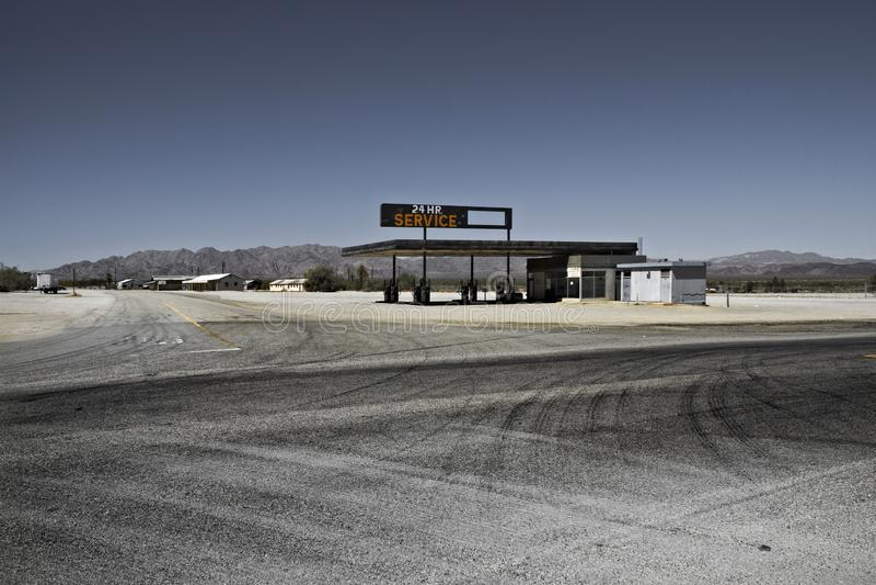 Парк горы Petrolstation tucson, Аризона, Соединенные Штаты стоковое фото rf