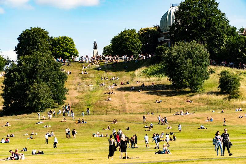 Парк Гринвича в Лондоне стоковое фото rf