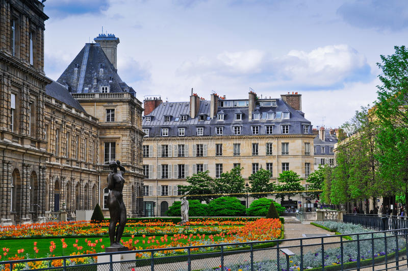 парк дворца Люксембурга стоковое фото