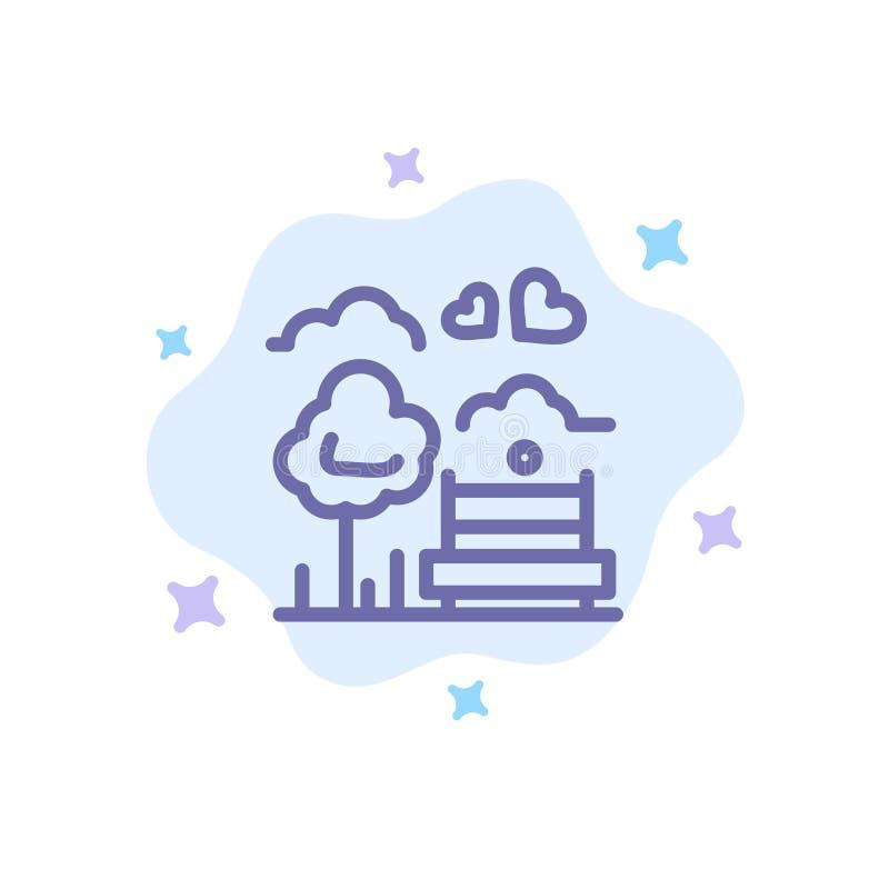 Парк, дерево, Суд, любовь, на открытом воздухе голубой значок на абстрактной предпосылке облака иллюстрация вектора