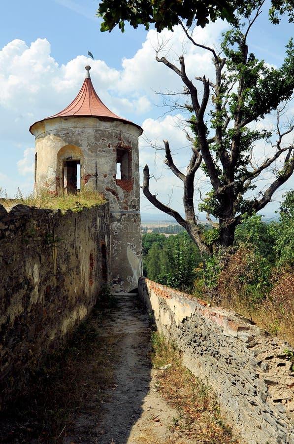 Парк замка на Horsovsky Tyn, чехии стоковые изображения rf
