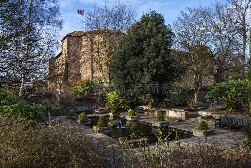 Парк замка Colchester стоковые фото