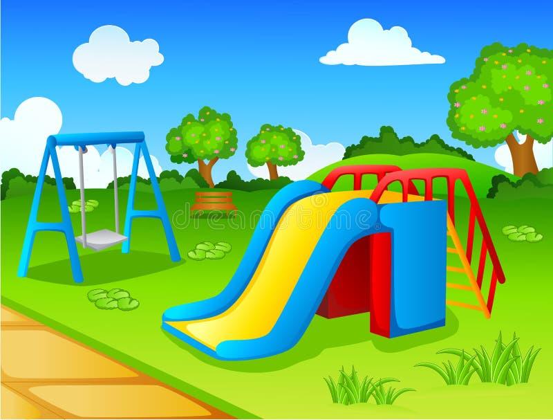 Парк игры для детей иллюстрация вектора