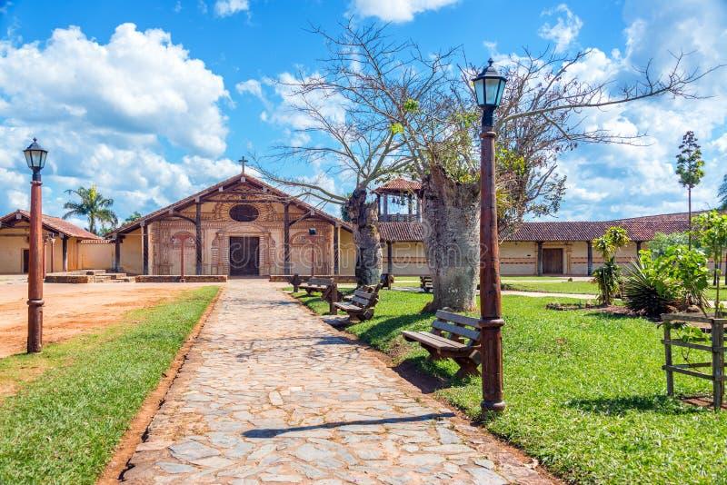 Парк и церковь Сан Ксавьера стоковое фото