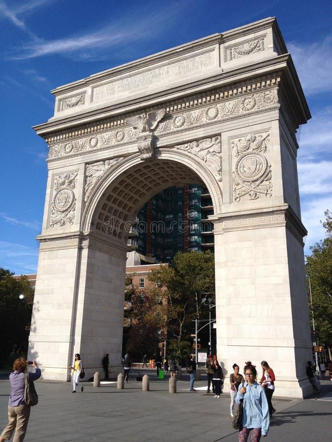 Парк квадрата Нью-Йорка Вашингтона стоковое фото rf