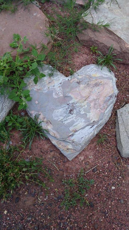 Парк Колорадо Estes сердца форменный каменный стоковые фотографии rf