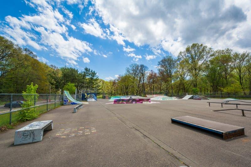 Парк конька Edgewood, в New Haven, Коннектикут стоковое изображение rf
