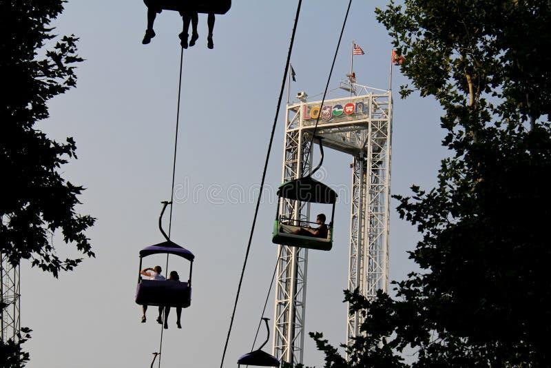 Парк лагуны: Езда неба стоковое фото rf
