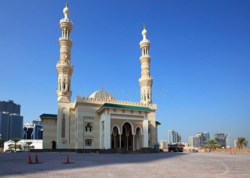 парк мечети majaz al новый стоковые фотографии rf