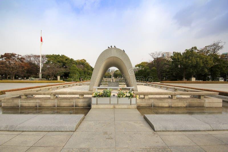Парк мира Хиросимы мемориальный, Япония стоковые фотографии rf