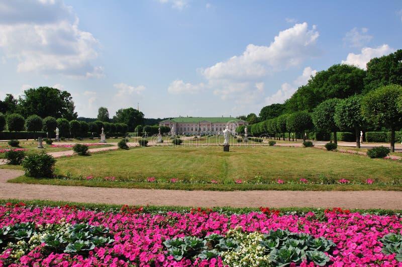парк музея moscow kuskovo стоковое изображение rf