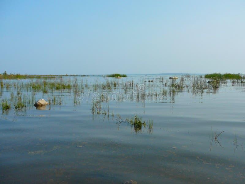 Парк окружающей среды ферзя Элизабета Mnido Mnising, остров Manitoulin стоковая фотография rf