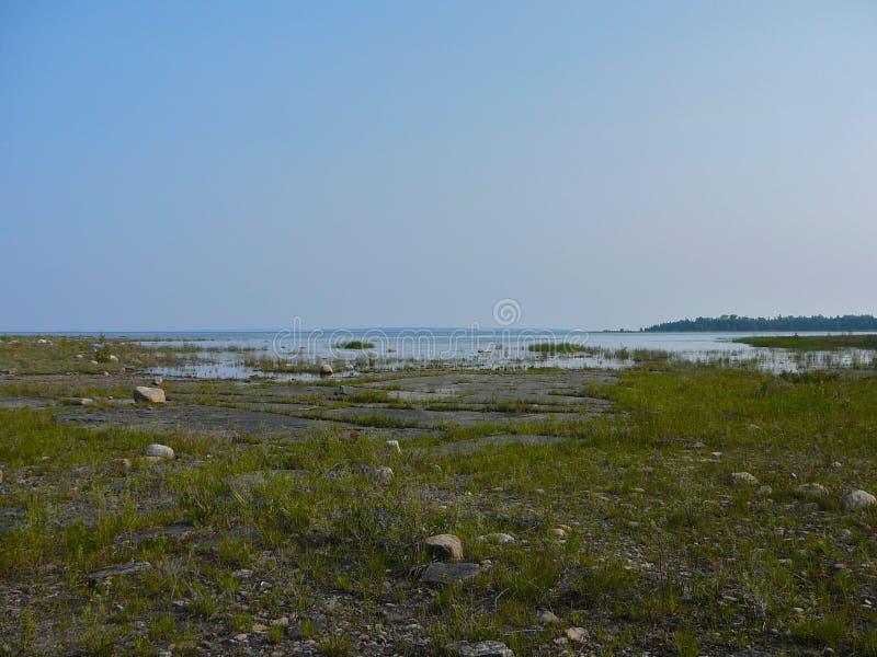 Парк окружающей среды ферзя Элизабета Mnido Mnising, остров Manitoulin стоковые изображения rf