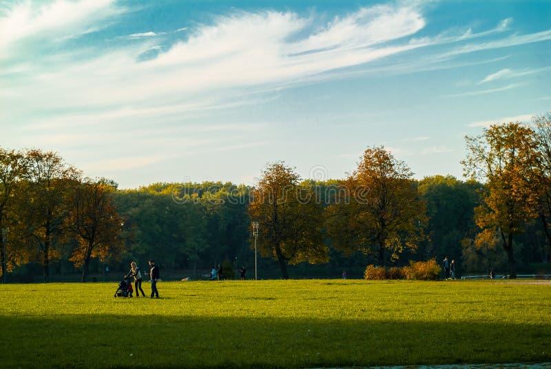 Парк победы Минск, Беларусь стоковое изображение rf