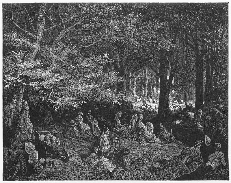 Парк правителей, под деревьями стоковые фотографии rf