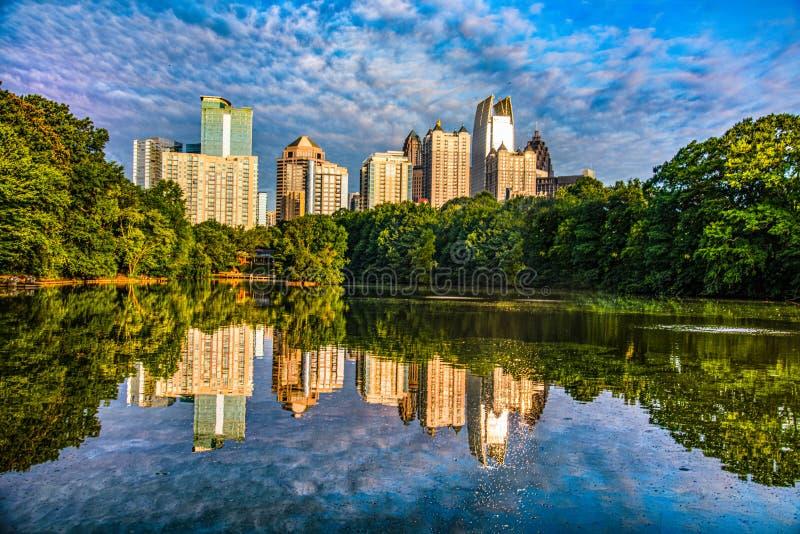 Парк Пьемонта в Атланта Грузии GA стоковые изображения rf