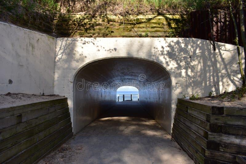 Парк пляжа тоннеля в Голландии стоковые фото