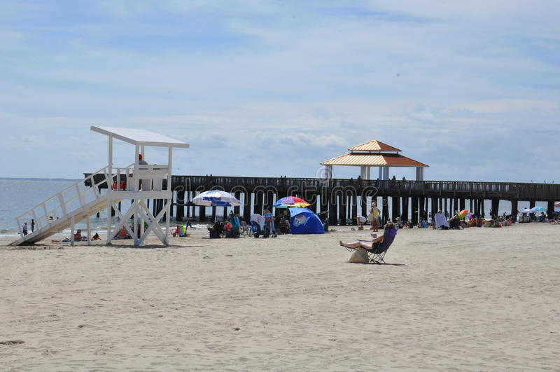 Парк пляжа Buckroe в Hampton, Вирджинии стоковая фотография rf