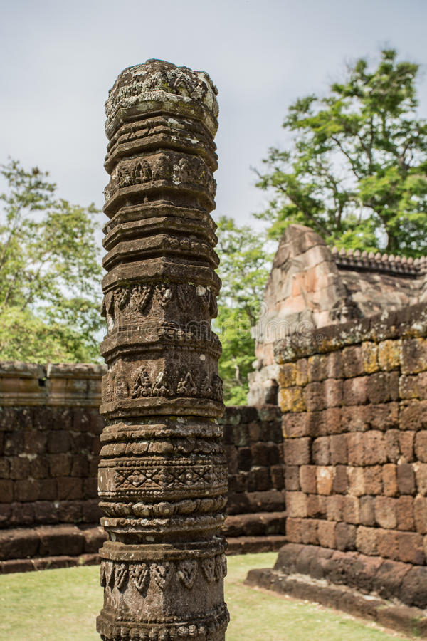 Парк ранга Prasat Phanom исторический стоковая фотография rf