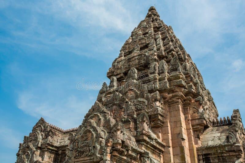 Парк ранга Prasat Phanom исторический стоковое фото rf