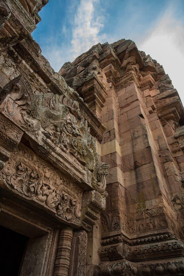Парк ранга Prasat Phanom исторический стоковые изображения