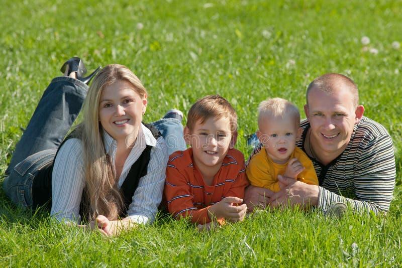 парк семьи 4 стоковое изображение