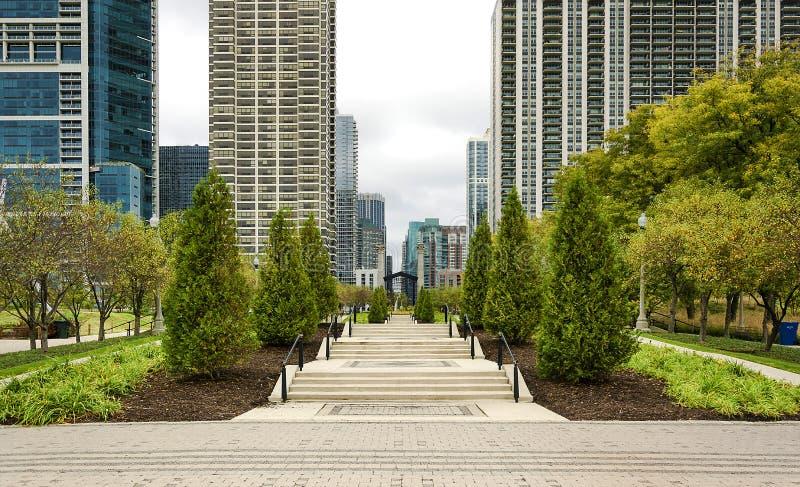 парк тысячелетия chicago стоковая фотография rf