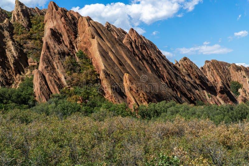 Парк штата Денвер Колорадо Roxborough стоковая фотография