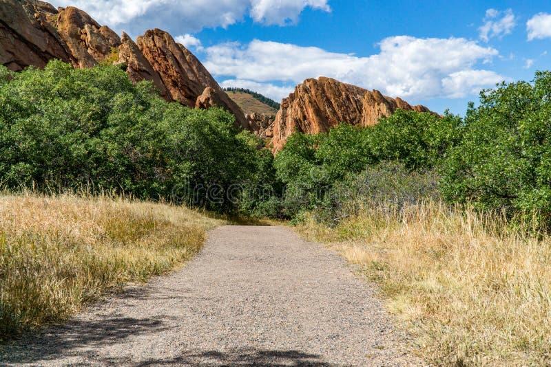 Парк штата Денвер Колорадо Roxborough стоковое фото rf