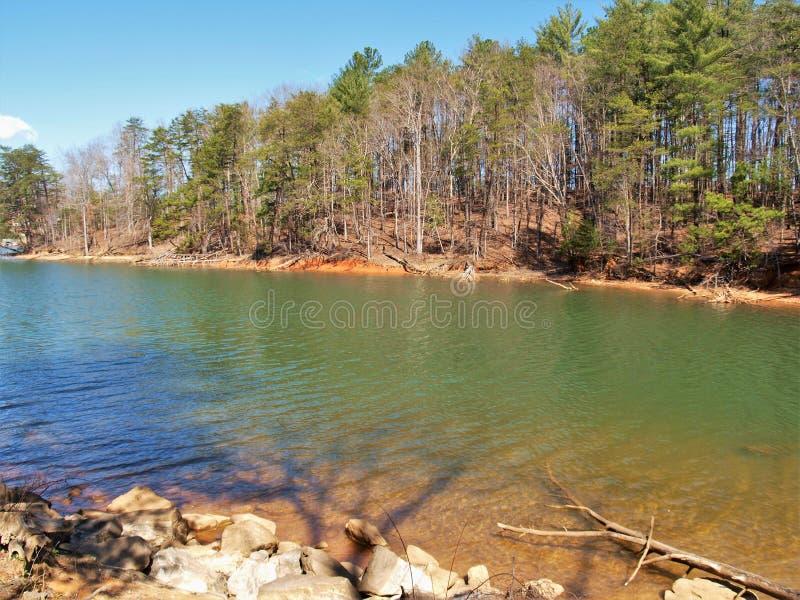 Парк штата Джеймс озера около Morganton, Северной Каролины стоковые изображения