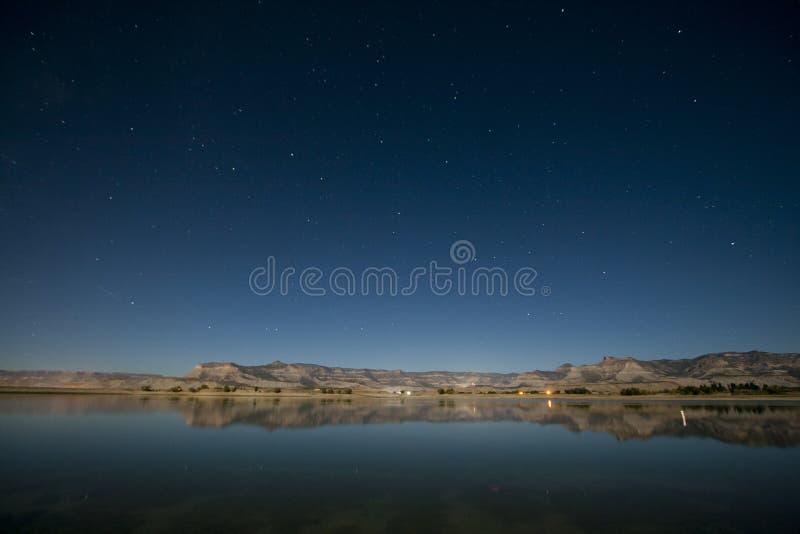 Парк штата на ноче, Юта Huntington, США стоковое фото