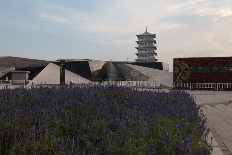 Парк экспо мира Сиань, провинция Шэньси changan башня стоковое изображение rf