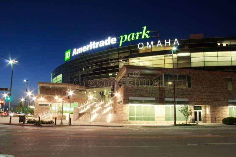 Парк Ameritrade в городском Омахе стоковое фото rf