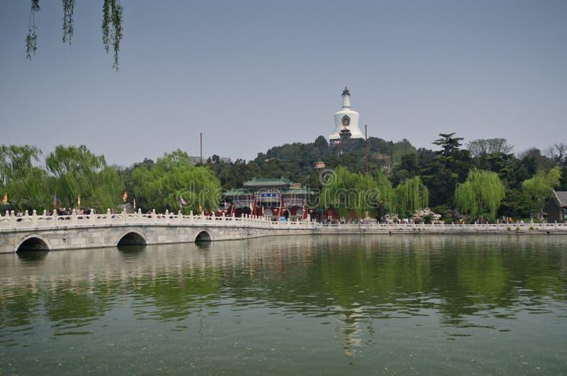 Парк Beihai, Пекин стоковые изображения